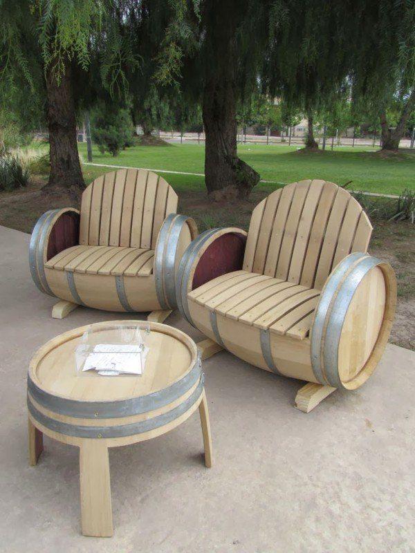 tonneau Version fauteuils d'extérieur