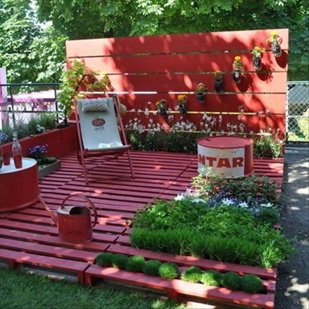 palette salon de jardin