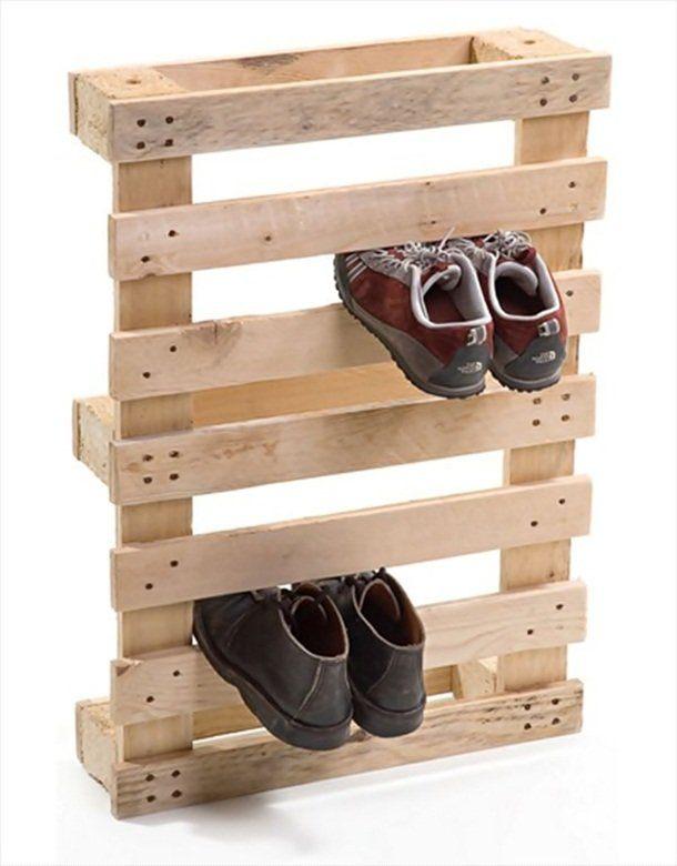 palette meuble basique à chaussure
