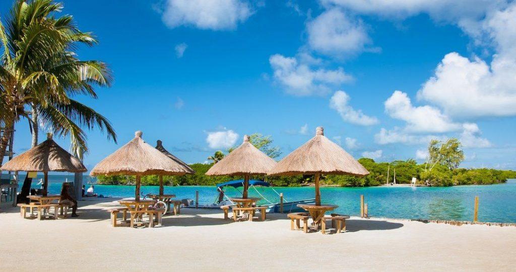 La caye Caulker de Belize dans les Caraïbes