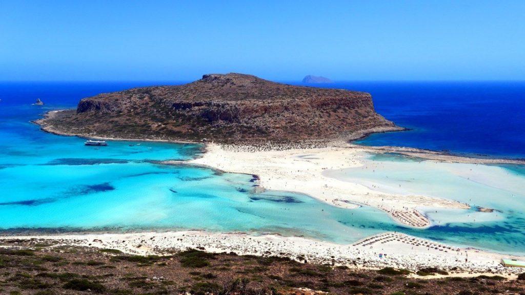 plage de Balos et son lagon en Crète