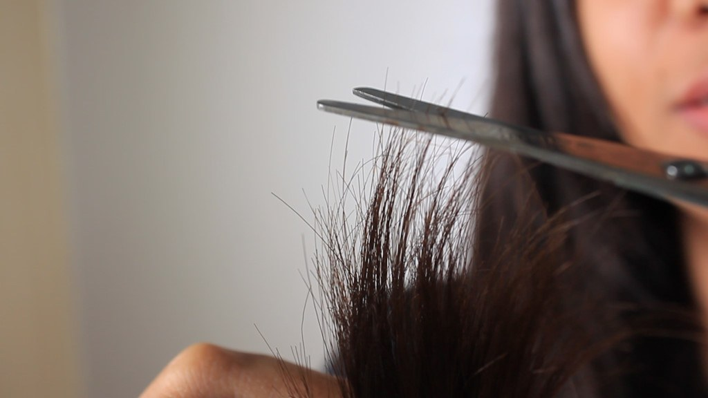 couper la pointe des cheveux