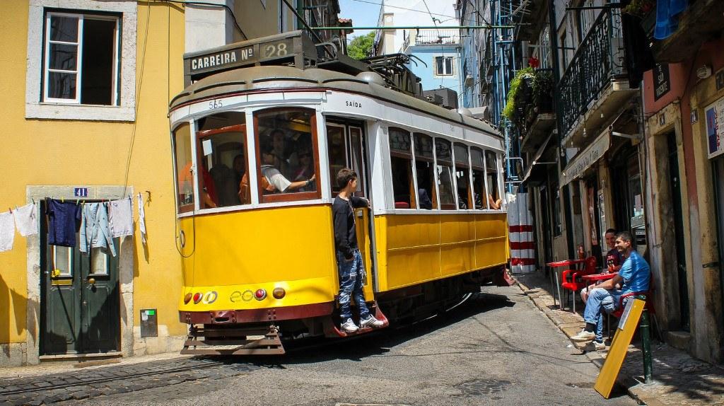 tramway 28E Lisbonne