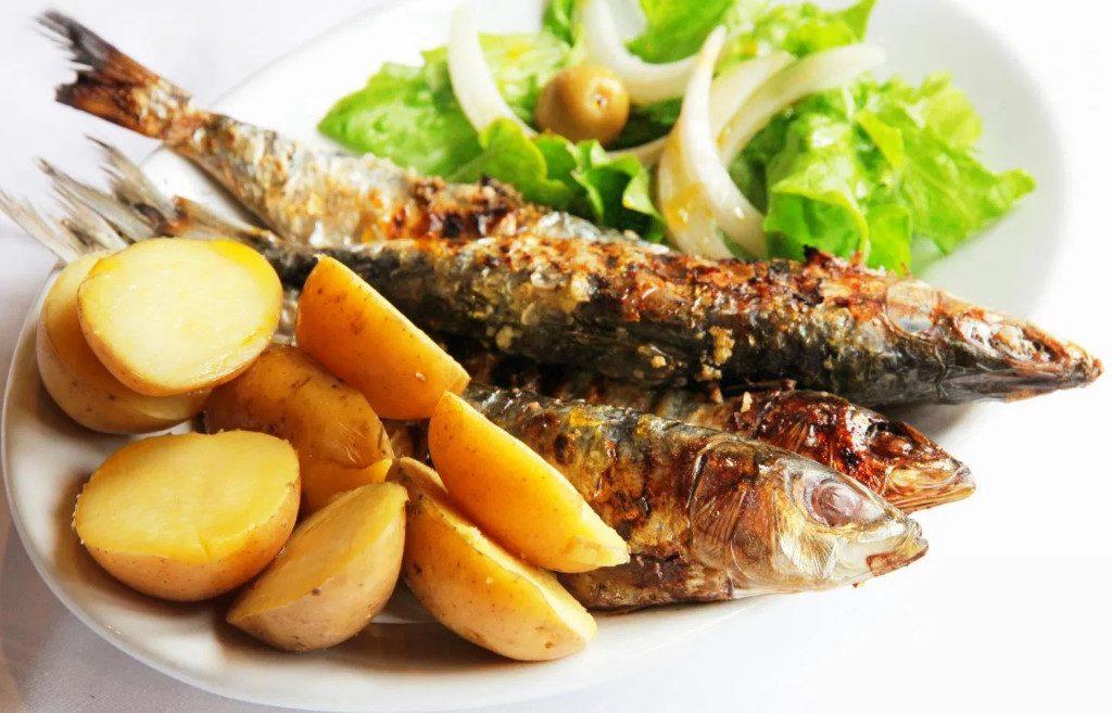 sardines grillées de Lisbonne
